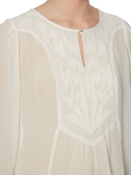 Linea Weekend Cemona embroidered blouse