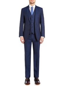 Notch Collar Tailored Fit Suit