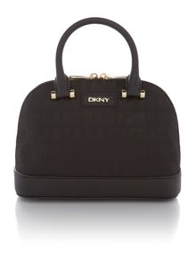 Saffiano black mini rounded satchel bag