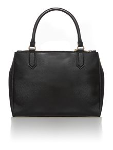 Osla black double zip tote bag