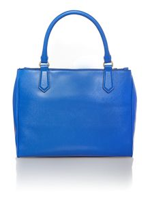 Osla blue double zip tote bag