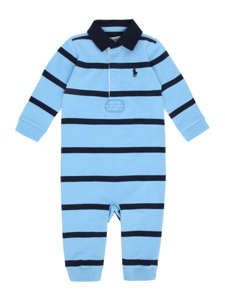 Polo Ralph Lauren Boys Rugby Stripe All In One