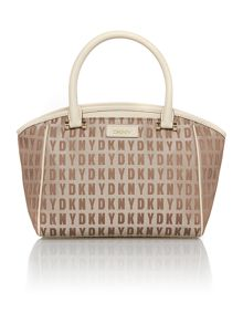 Saffiano tan small satchel bag