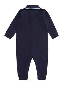 Baby boys long sleeved coverall polo