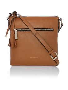 London tan cross body bag