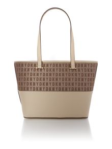Saffiano tan tote bag