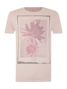 Night Bloom Negative Flower Print Graphic Tee
