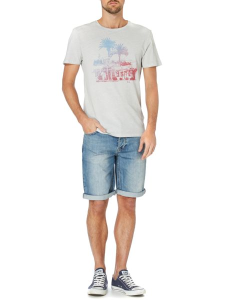 Label Lab Pool side palm tree and hotel graphic t-shirt
