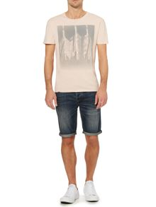 Arrows Fade Out Graphic Print T-Shirt