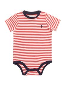 Baby Boys Crew Neck Stripe Bodysuit