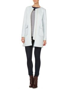 Vince Camuto Collarless coat with front pockets