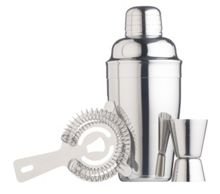 Cocktail Gift 3pc Set - Stainless Steel