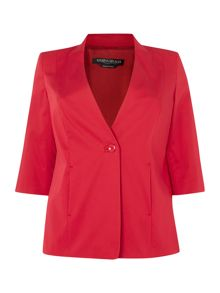 Marina Rinaldi Corallo blazer with 3/4 sleeve