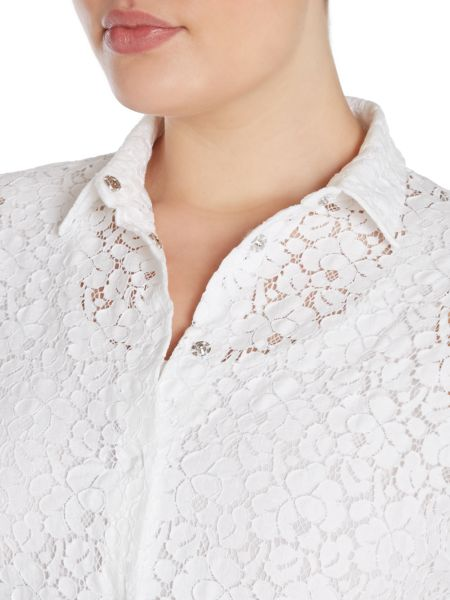 Marina Rinaldi Battello Shirt with lace detail