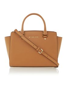Selma tan medium tote bag