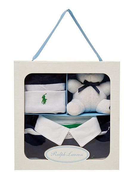 Ralph Lauren Baby Gift Box Set : Polo ralph lauren boys gift box with rugby all in one hat