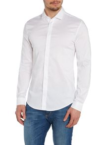Plain Long Sleeve Shirt With Hidden Placket