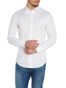 Plain Slim Fit Long Sleeve Shirt