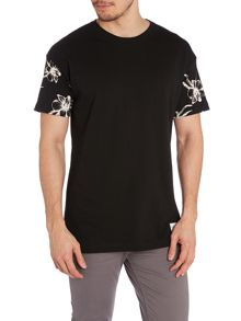 Flower Sleeve T Shirt