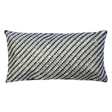 Chequer Black 16x30cm Cushion