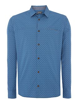 Bond Spot Print Long Sleeve Shirt