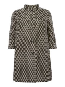 Coat with printed spot detail