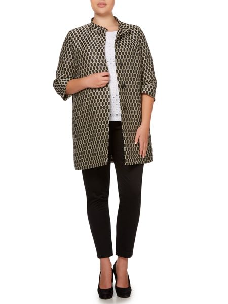 Persona Coat with printed spot detail