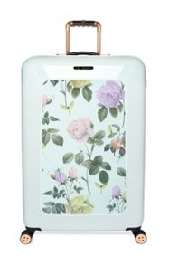 Distingushed mint print 4 wheel hard large case