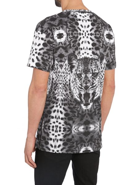 A Question Of All Over Leopard Primted T Shirt