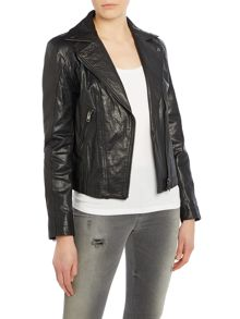L-dada biker style leather jacket
