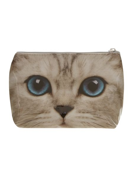Catseye Silver large kitty wash bag