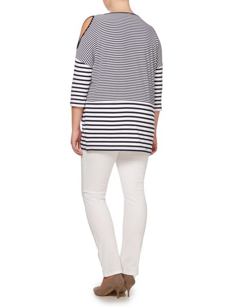 Persona Stripey top with 3/4 sleeves