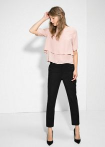 Double-layer blouse