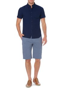Linea Russon Washed Button Down Short Sleeve Shirt