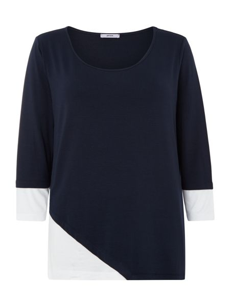 Persona Long sleeve top with colour block detail