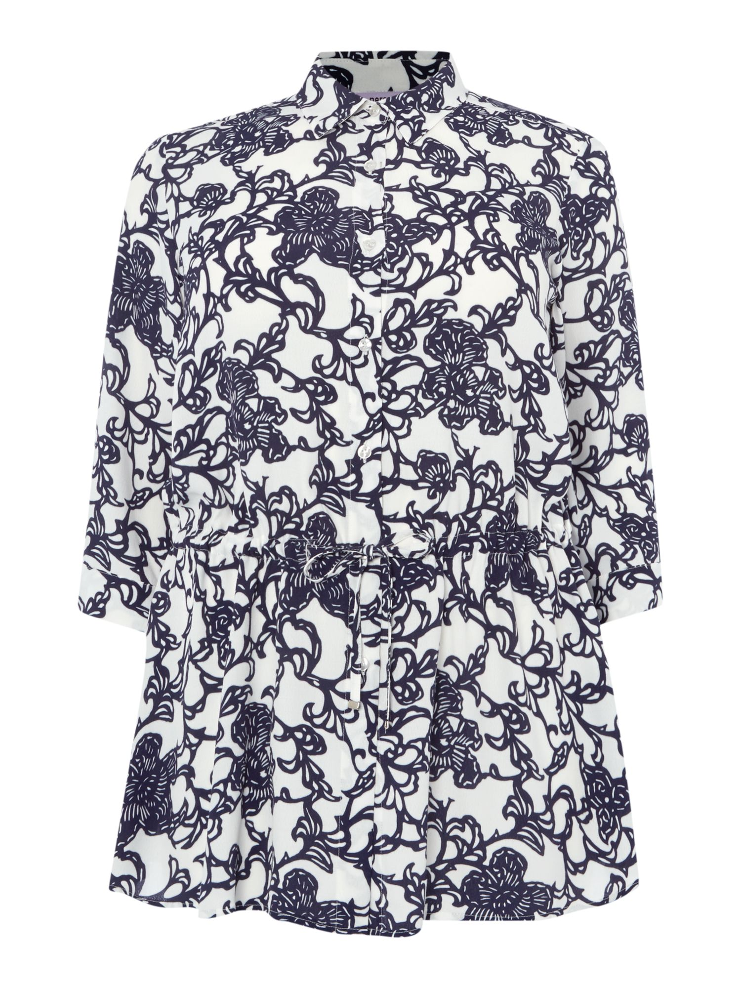 Persona Shirt with floral pattern, White