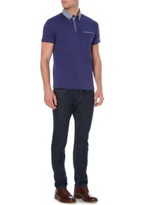 Linea Chater Print Collar Polo With Pocket Detailing