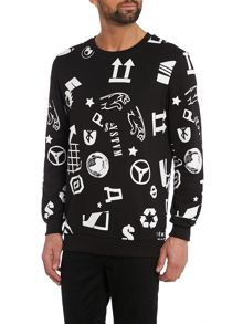 Systvm Graphic logos printed sweatshirt