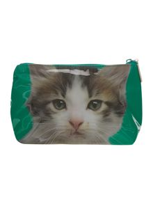 Green large kitten wash bag