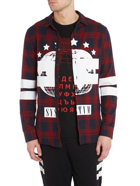 Systvm Printed Check Shirt
