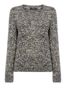 Long sleeve round neck knit jumper