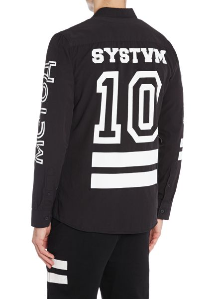 Systvm Printed Sleeve Shirt
