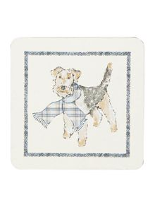 Dickins & Jones Ned The Dog Coaster Set Of 4