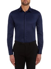 TM Lewin Plain Tailored Fit Long Sleeve Shirt