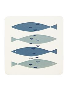 Fish Print Coaster Set Of 4