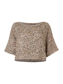 All over sequin woven tee