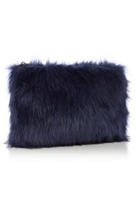 Fi-fi faux fur clutch