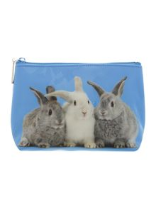 Blue bunnies medium cosmetics bag