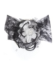 Harriet Lace Floral Trim & Veiling Headpiece