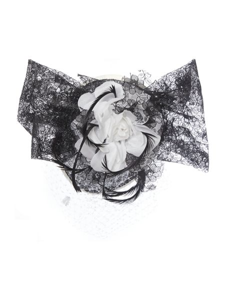 Amy Money Harriet Lace Floral Trim & Veiling Headpiece